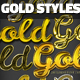 15 Gold Effect Photoshop Styles