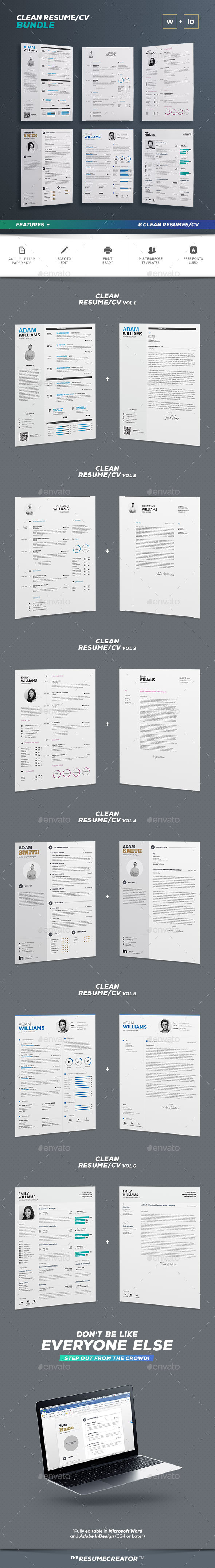 Clean Resume Bundle