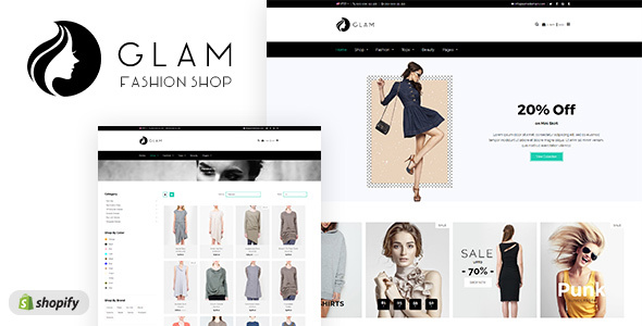 Glam - Minimal Shopify Theme