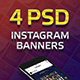 Sun Party 4 Instagram Banner Templates - GraphicRiver Item for Sale