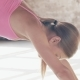 Shooting Exercises Yoga . Sporty Girl Doing Exercises on Mate. Magnificent Stretching and Stability - VideoHive Item for Sale