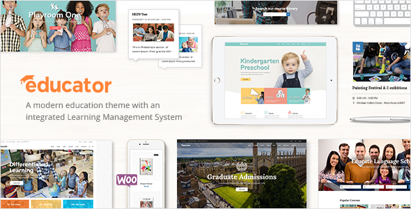 ThemeForest Educator An Education and Learning Management System Theme 20528303