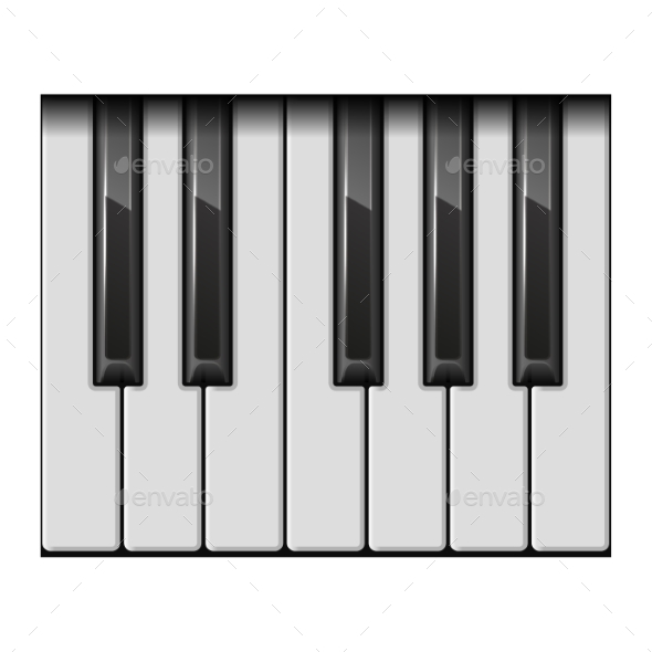 Piano One Octave Keys - Man-made Objects Objects
