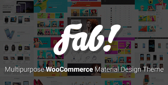 FAB! - Material Design WooCommerce WordPress Theme - WooCommerce eCommerce