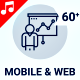 Web Mobile Marketing Sales Animation - Line Icons and Elements