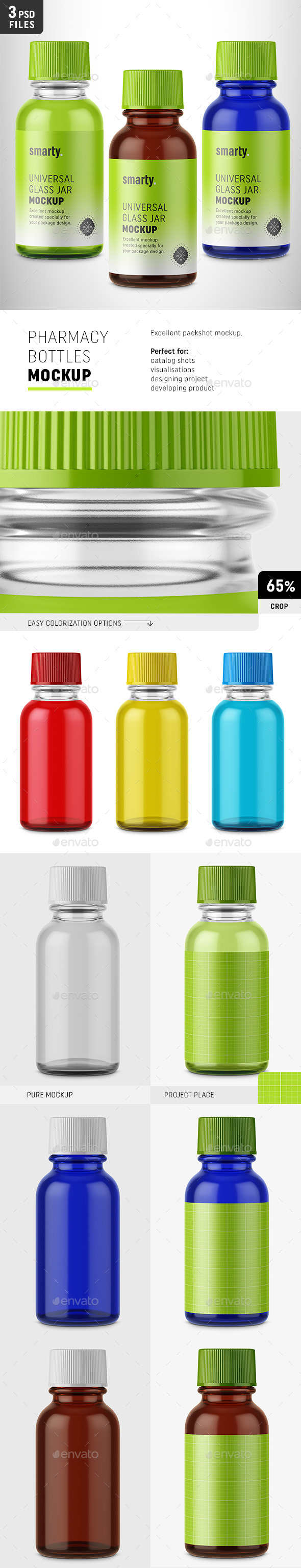 GraphicRiver Pharmacy Bottles Mockup 20528494