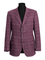 Purple tailored jacket on mannequin
