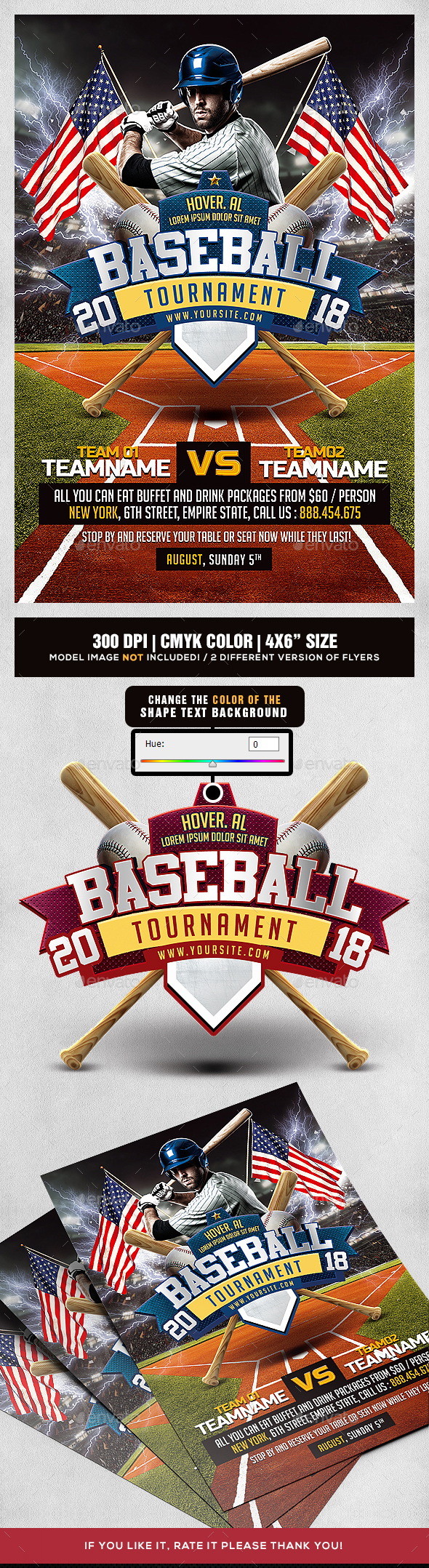 Baseball Tournament Flyer - Sports Events