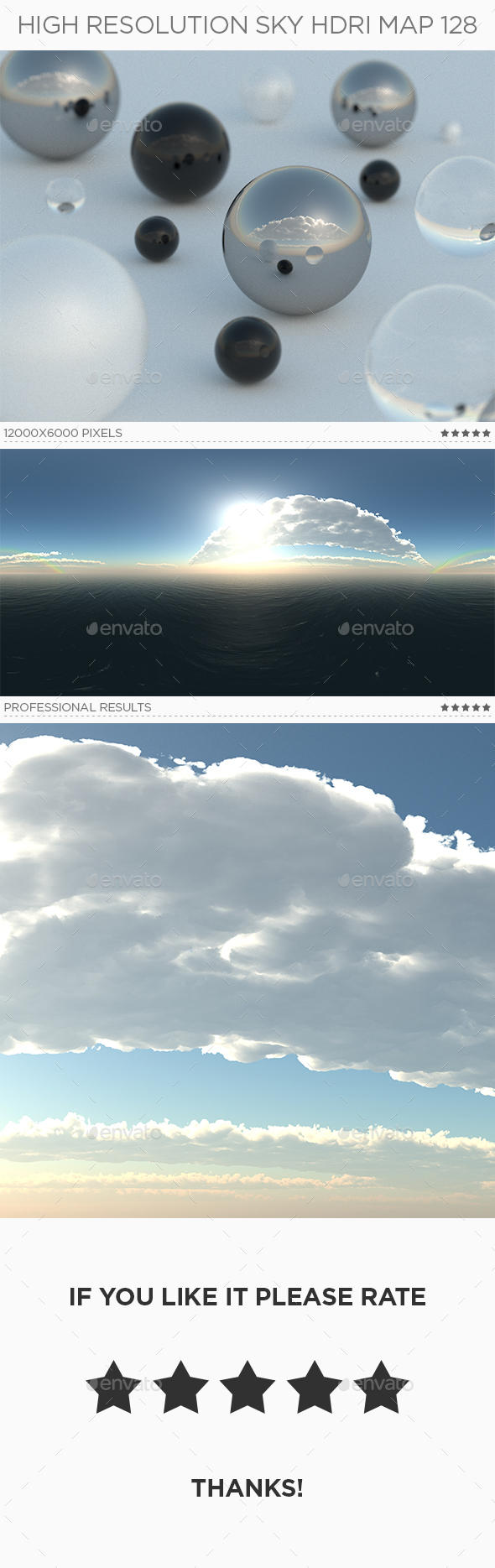 High Resolution Sky HDRi Map 128 - 3DOcean Item for Sale