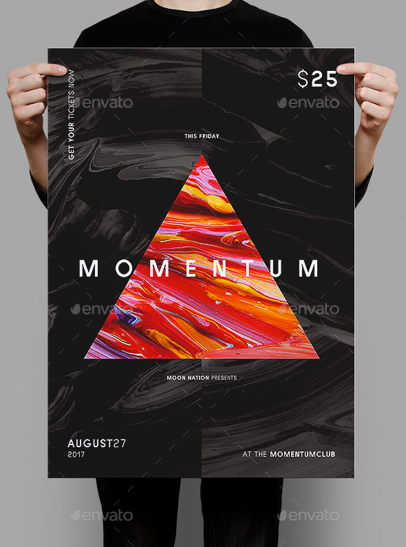 Momentum Poster / Flyer Template - Clubs & Parties Events