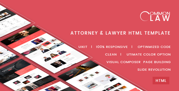 Download Common Law - Attorney & Lawyer HTML Template