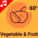 Vegetable Drink Fruit Food Animation - Line Icons and Elements - VideoHive Item for Sale