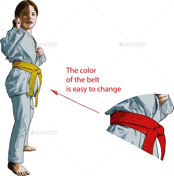 Karate Girl - Sports/Activity Conceptual