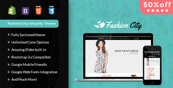 Image of Fashion City -Shopify  Responsive Sectioned Theme
