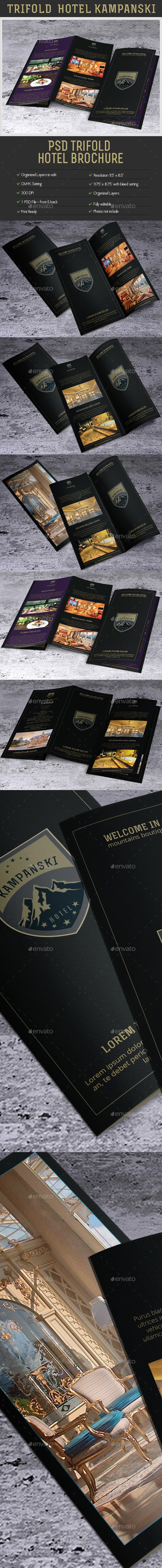Creative TriFold Brochure Hotel Kampanski. - Brochures Print Templates