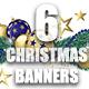 6 Christmas Banners
