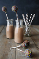 Bottles of chocolate milk with cake pops - PhotoDune Item for Sale