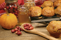 Holiday baking of berry muffins - PhotoDune Item for Sale