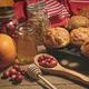 Muffins with fresh cranberries on table - PhotoDune Item for Sale