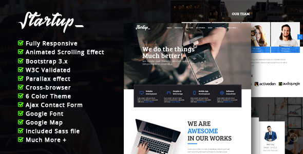 Startup -   Multipurpose Corporate Responsive HTML Template - Corporate Site Templates