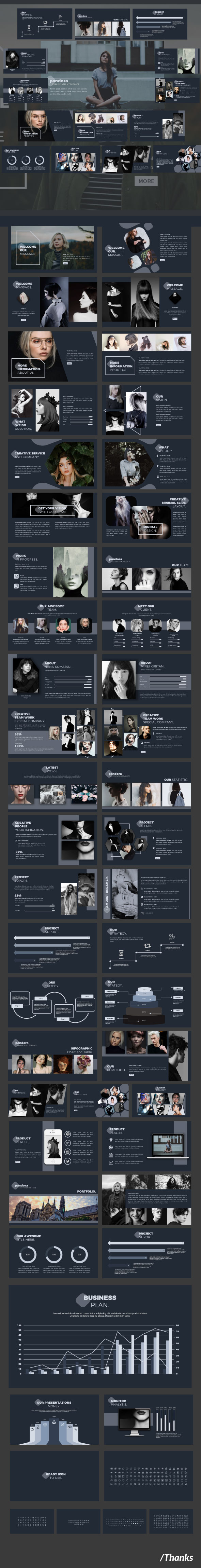 GraphicRiver Pandora Multipurpose Google Slide 20529009