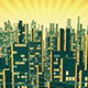 Aerial View of City Skyscrapers Silhouette in the Background of the Shining Sky - VideoHive Item for Sale