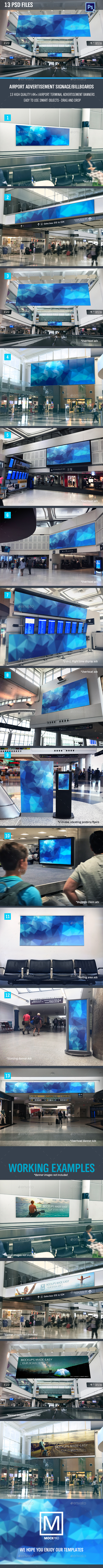 Airport Signage/Billboard Pack - 13 PSD files - Signage Print
