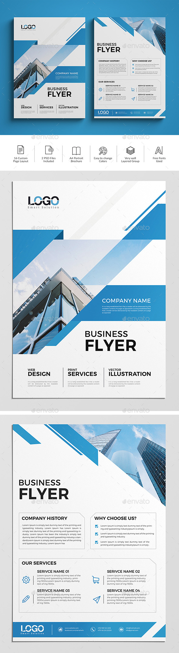 GraphicRiver A4 Corporate Flyer 10 20529594