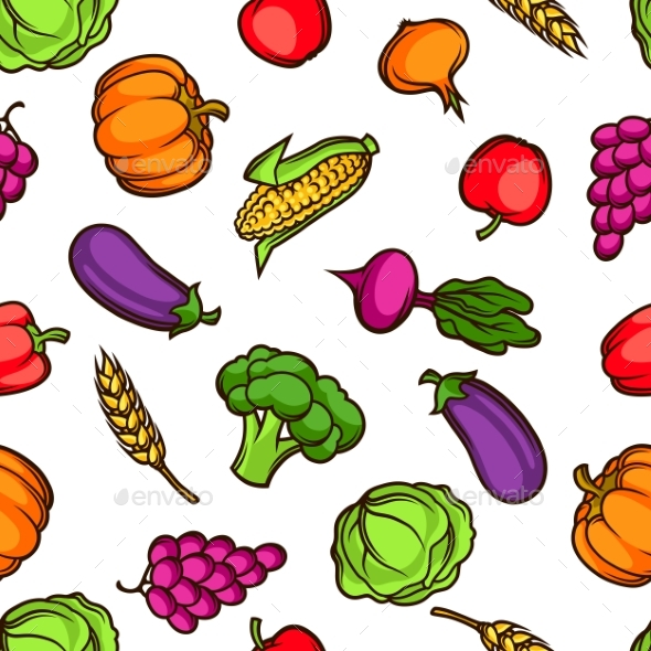 GraphicRiver Harvest Seamless Pattern 20529610