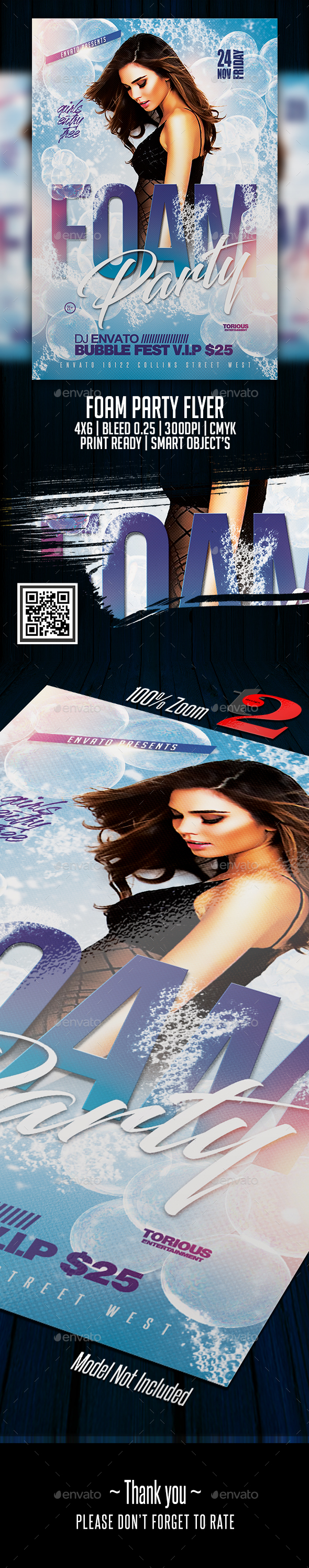 Foam Party Flyer Template - Clubs & Parties Events