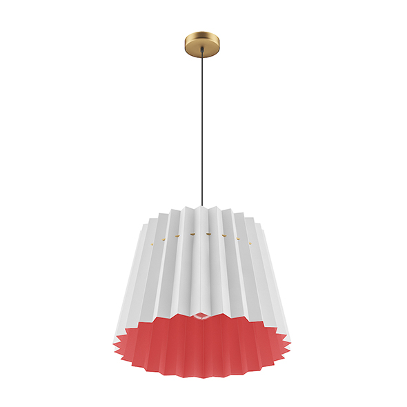 Ceiling Lamp with Red and White Shade - 3DOcean Item for Sale