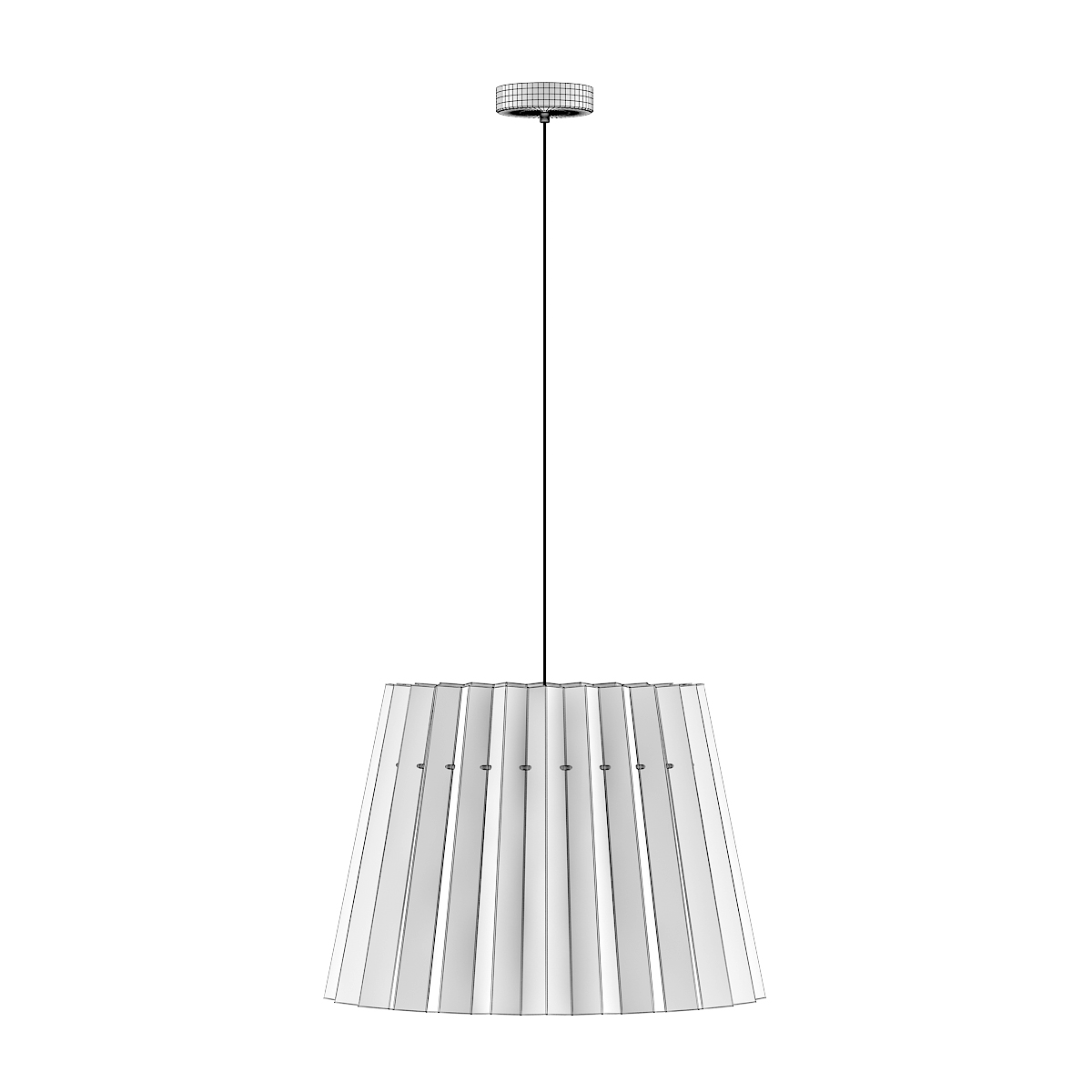 Ceiling Lamp with Red and White Shade