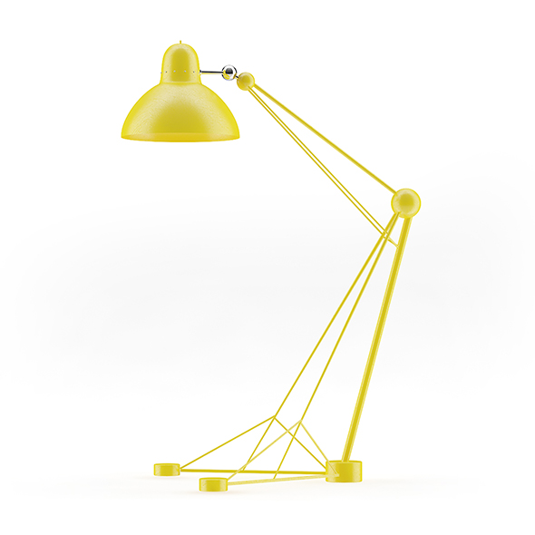 Large Yellow Floor Lamp - 3DOcean Item for Sale