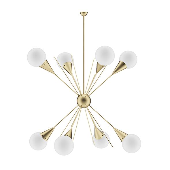 Golden Ceiling Lamp - 3DOcean Item for Sale