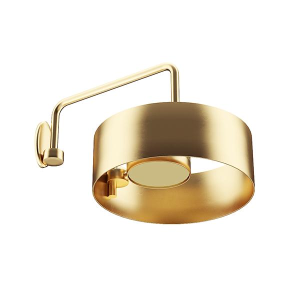 Golden Metal Wall Lamp - 3DOcean Item for Sale
