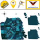 Map of San Francisco with Districts - GraphicRiver Item for Sale