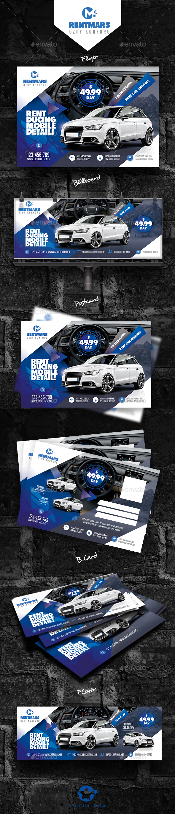 Rent A Car Bundle Templates - Corporate Flyers