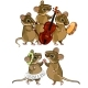 Mouse Musical Orchestra and a Dancing Couple