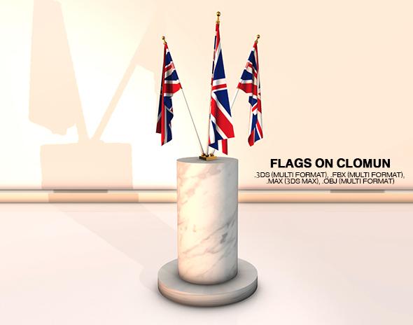 3DOcean Flags on Column 20529851