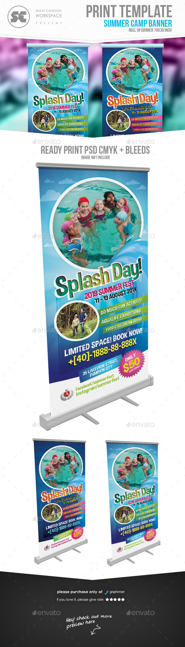 Water Festival Banner - Signage Print Templates