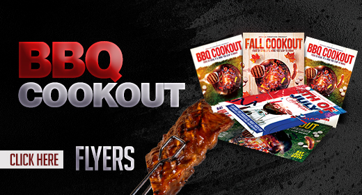 BBQ COOKOUT FLYERS