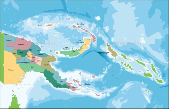GraphicRiver Papua New Guinea Map 20529952