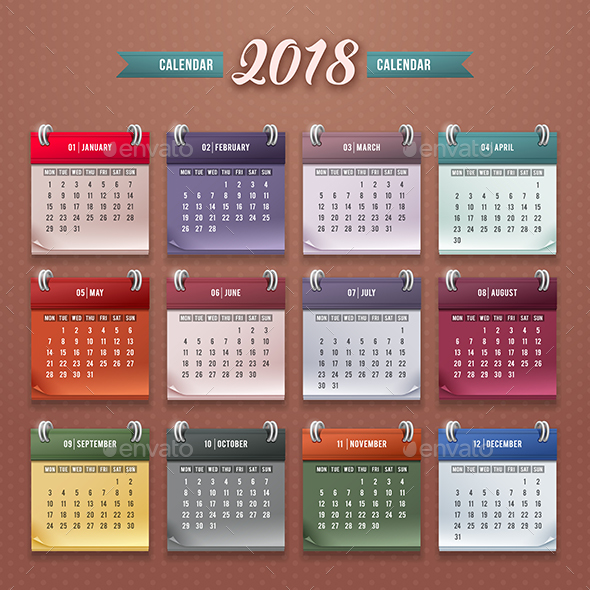GraphicRiver Calendar 2018 20530093