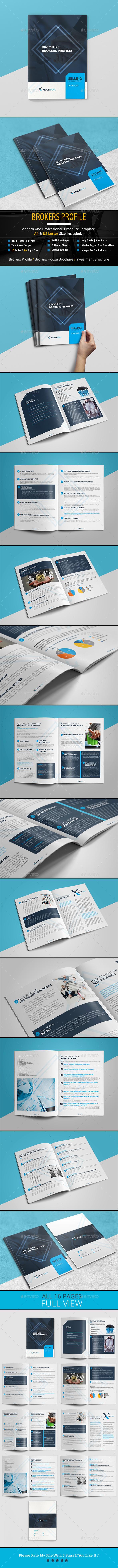 Brokers Profile Brochure - Brochures Print Templates