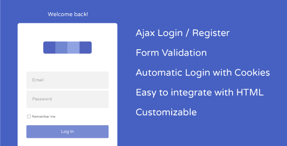 AJAX User Registration and Login with Cookie Autologin - CodeCanyon Item for Sale