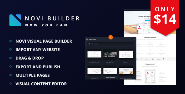 CodeCanyon Novi Visual Page Builder 20530305