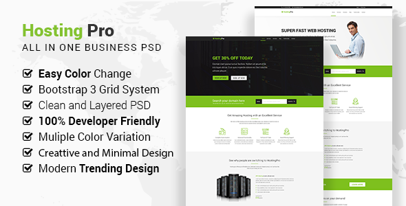 Hosting Pro - Business Website PSD Template