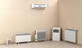 Electric heaters in the room - PhotoDune Item for Sale