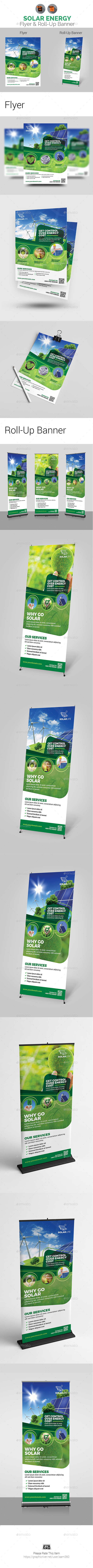 Solar Energy Flyer & Roll-Up Templates - Print Templates