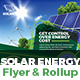 Solar Energy Flyer & Roll-Up Templates